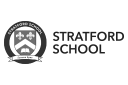 Stratford School: logo in monochrome